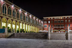 Republic Square in Split at Night, Dalmatia Stock Images