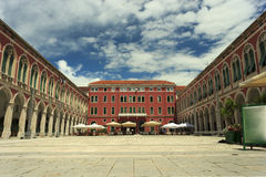 Republic Square Split Royalty Free Stock Photography