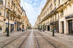 Republic street Orleans, France. Orleans, France June 2, 2018: Republic street Rue de la République in the center of Orleans Stock Photo
