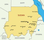 Republic of the Sudan - vector map. Republic of the Sudan - vector  map Stock Photos