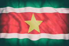 Republic of Suriname flag waving Stock Image