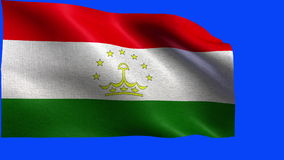 Republic of Tajikistan, Flag of Tajikistan - LOOP Stock Images