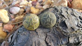 Republic of Texas buttons. From 1836 Royalty Free Stock Photos