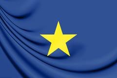 Republic of Texas 1836-1839 Flag. Stock Image