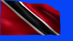 Republic of Trinidad and Tobago, Flag of Trinidad and Tobago - LOOP. Beautiful 3d flag animation on green/blue screen in 4k format - seamless looped stock video