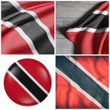 Republic of Trinidad and Tobago flag waving Royalty Free Stock Photography