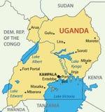 Republic of Uganda - map - vector Stock Photography