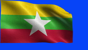 Republic of The Union of Myanmar, Flag of Myanmar - LOOP Stock Photos