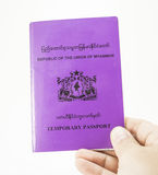 Republic of the Union of myanmar temporary passport Royalty Free Stock Photography