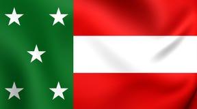 Republic of Yucatan Flag 1841-1848 Stock Photography