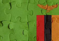 Republic of Zambia flag puzzle Royalty Free Stock Image