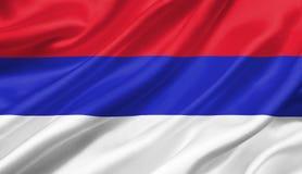Republica Srpska fahnenschwenkend mit dem Wind, Illustration 3D Stockbild