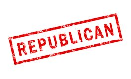 Republican. A grunge stamp of the word republican Royalty Free Stock Photo