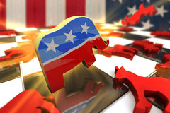 Republican Attacks Royalty Free Stock Photo