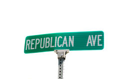 Republican Avenue street sign Stock Photo