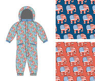 Republican baby Childrens clothing . Republican Elephant seamles Stock Photos