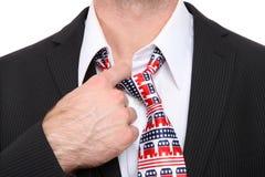Republican Business Man. A Republican GOP senator or congress man with symbolic tie Stock Images