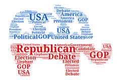 Republican Debate Word Cloud in Elephant Stock Photo