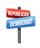Republican, democrat. Illustration design over a white background Royalty Free Stock Image