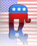 Republican Democrat. Republican elephant reflecting a democrat donkey Stock Photos