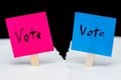 Republican or democrat royalty free stock images