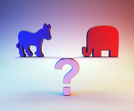 Republican or Democrat Stock Photography