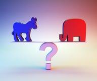 Republican or Democrat Stock Photography