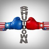 Republican Democrat Shutdown stock photography