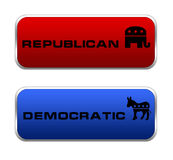 Republican and Democratic icon Royalty Free Stock Images