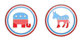 Republican and democrats Stock Image