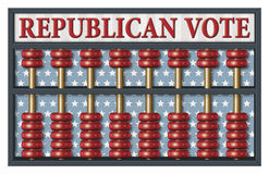 Republican Election Abacus Royalty Free Stock Photo