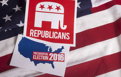 Republican Election Vote and American Flag Royalty Free Stock Photography
