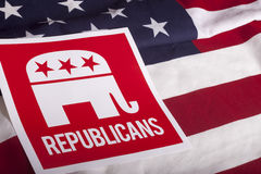 Republican Election Vote and American Flag Royalty Free Stock Images