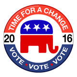 2016 Republican elections button Royalty Free Stock Photos