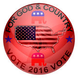 2016 Republican elections button. Isolated on white Vector Illustration