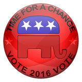 2016 Republican elections button. Isolated on white Royalty Free Illustration