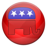 Republican elections button. Isolated on white Vector Illustration