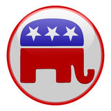 Republican elections button. Isolated on white Royalty Free Illustration