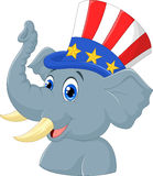 Republican Elephant Cartoon Character Royalty Free Stock Photos