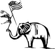 Republican Elephant Circus Stock Image