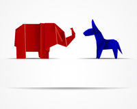 Republican Elephant and Democratic Donkey Royalty Free Stock Images