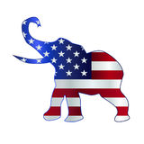 Republican Elephant Flag Royalty Free Stock Photo