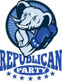 Republican Elephant Mascot Boxer Royalty Free Stock Images