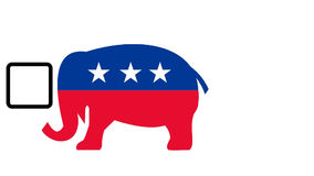 Republican elephant mascot voting Royalty Free Stock Photos