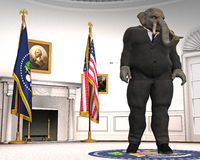 Republican, Elephant, Oval Office, Politics, White House Royalty Free Stock Images