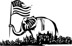 Republican Elephant and Refugees Royalty Free Stock Images
