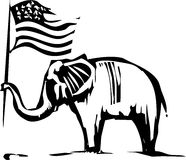 Republican Elephant Royalty Free Stock Images