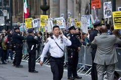 2016 Republican Gala- Anti-Trump Protests NYC Stock Photos