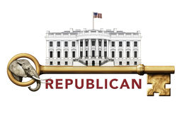 Republican Key to the White House Royalty Free Stock Images