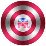 Republican metallic button Stock Photos